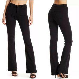 J Brand Black High Rise Maria Flare Jeans